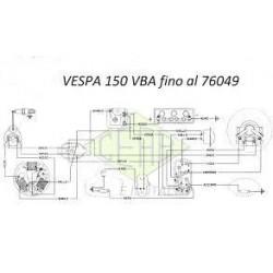 IMPIANTO ELETTRICO PER VESPA 150 VBA1T FINO AL 76049