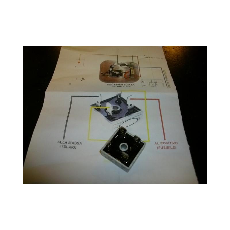 Schema Elettrico Regolatore Di Tensione Ducati : Raddrizzatore regolatore di corrente tensione a diodo vespa gs