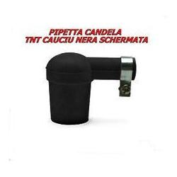 ATTACCO CANDELA SILICONE NERO SCHERMATO