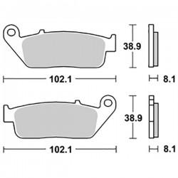 PASTIGLIE FRENO ANTERIORI/POSTERIORI FJS 400 SILVER WING'6-08 SILVER WING 600'01-10