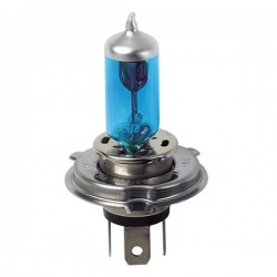 LAMPADINA ALOGENA 12 VOLT X 60 55W H4 BLU XENO