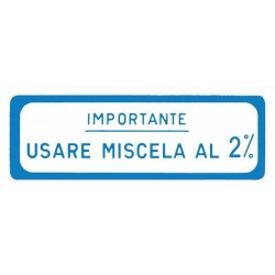 ADESIVO MISCELA 2% BLU VESPA 125 VNB 150 VBA GL VLA 58 X 20 MM