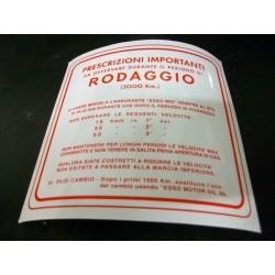 ADESIVO ROSSO NORME RODAGGIO 3 MARCE MISCELA 5% 147 X 144 MM