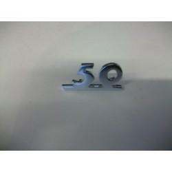 """SCRITTA """"50"""" ALLUMINIO"""