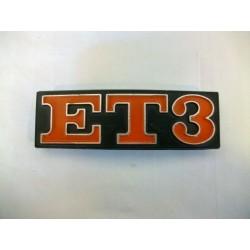"""TARGHETTA VESPA """"ET3"""""""