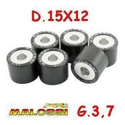 KIT RULLI VARIATORE MALOSSI D.15X12 GRAMMI 3,7